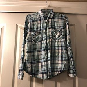 AEROPOSTALE- Light blue flannel